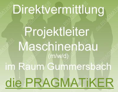 Projektleiter Maschinenbau (m/w/d) in Direktvermittlung